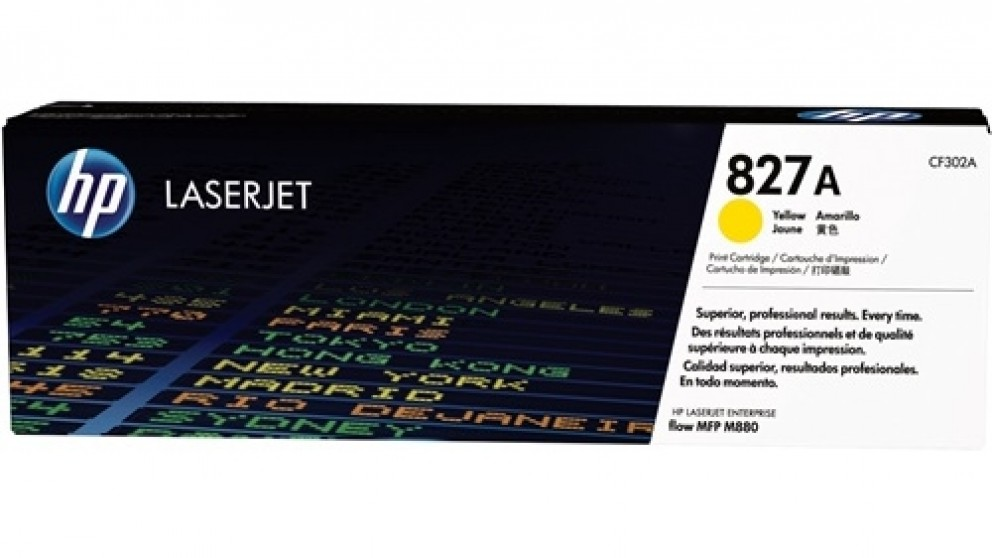 HP  827A Laser Jet Toner Cartridge - Yellow