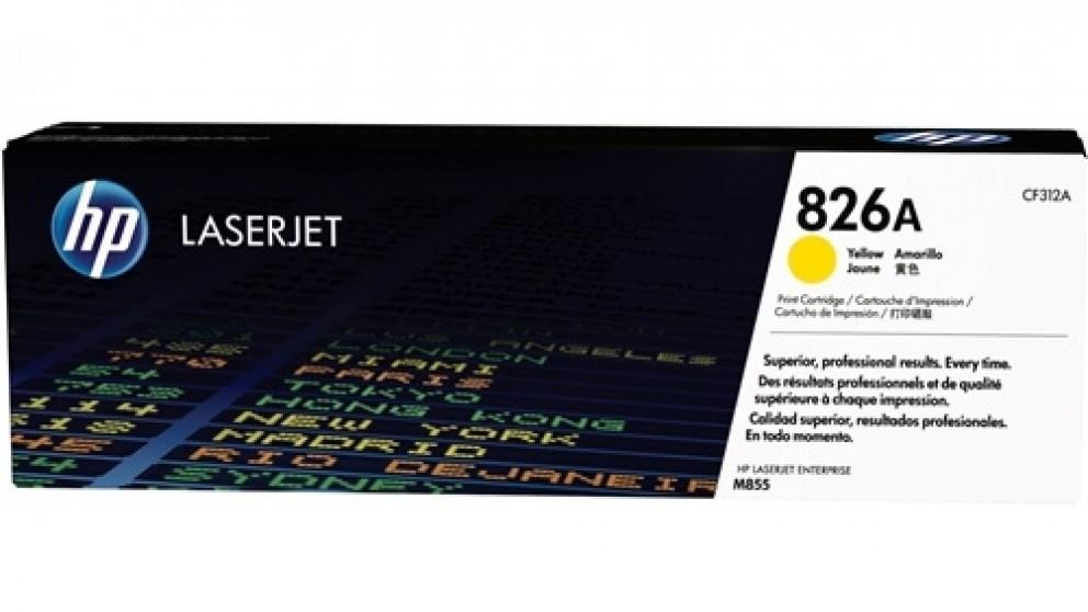 HP 826A Laser Jet Toner Cartridge - Yellow