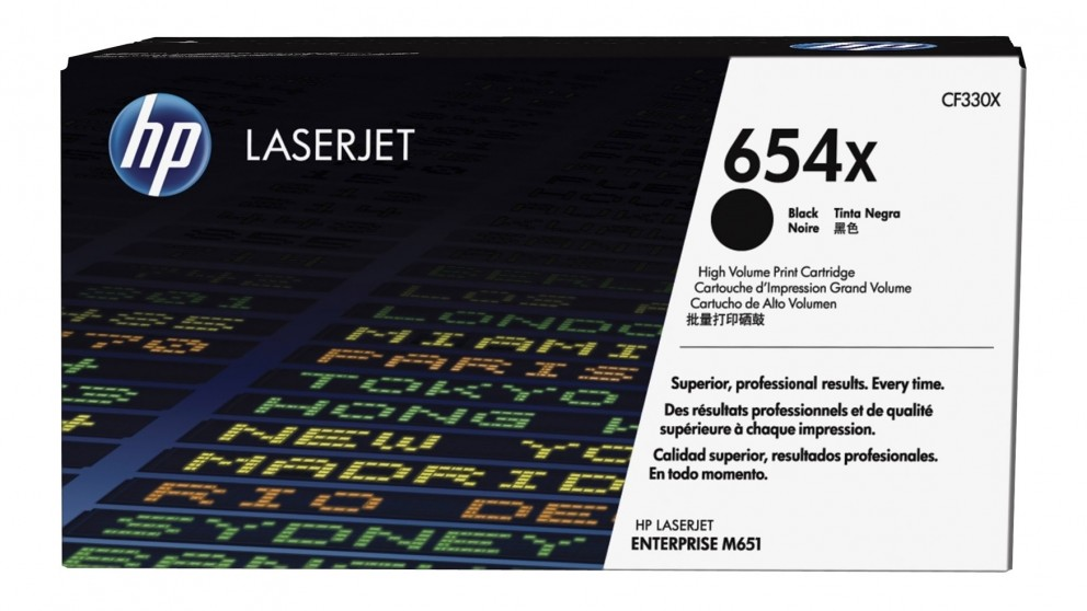 HP 654X LaserJet Toner Cartridge - Black