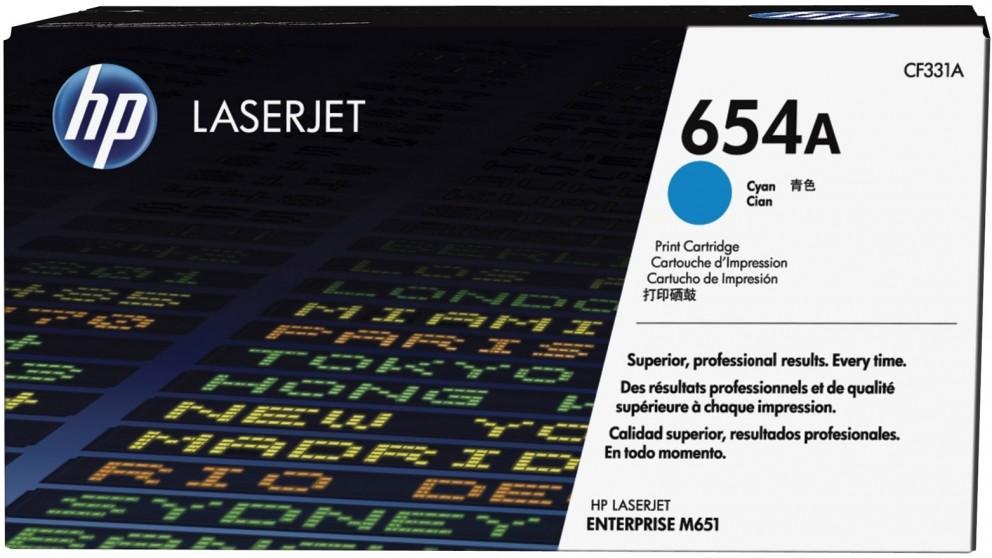 HP 654A LaserJet Cyan Toner Cartridge