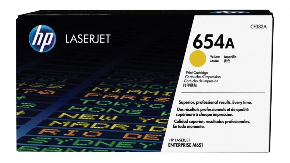 HP 654A LaserJet Toner Cartridge - Yellow