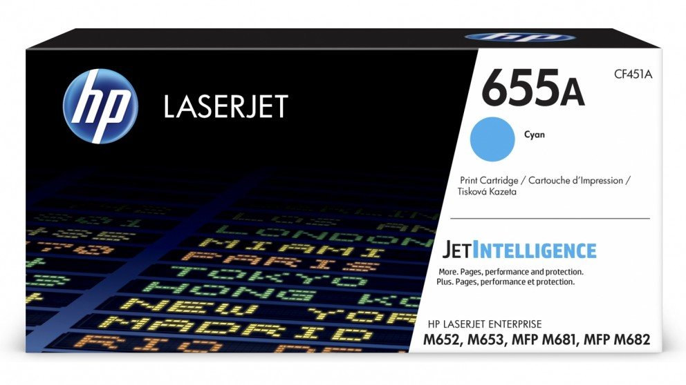 HP 655A LaserJet Toner Cartridge - Cyan