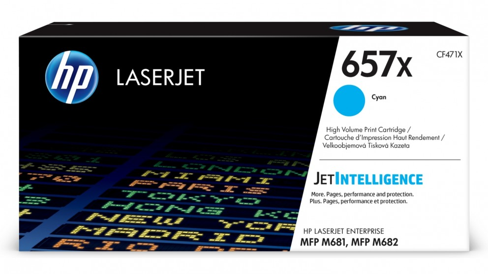 HP 657X High Yield LaserJet Toner Cartridge - Cyan