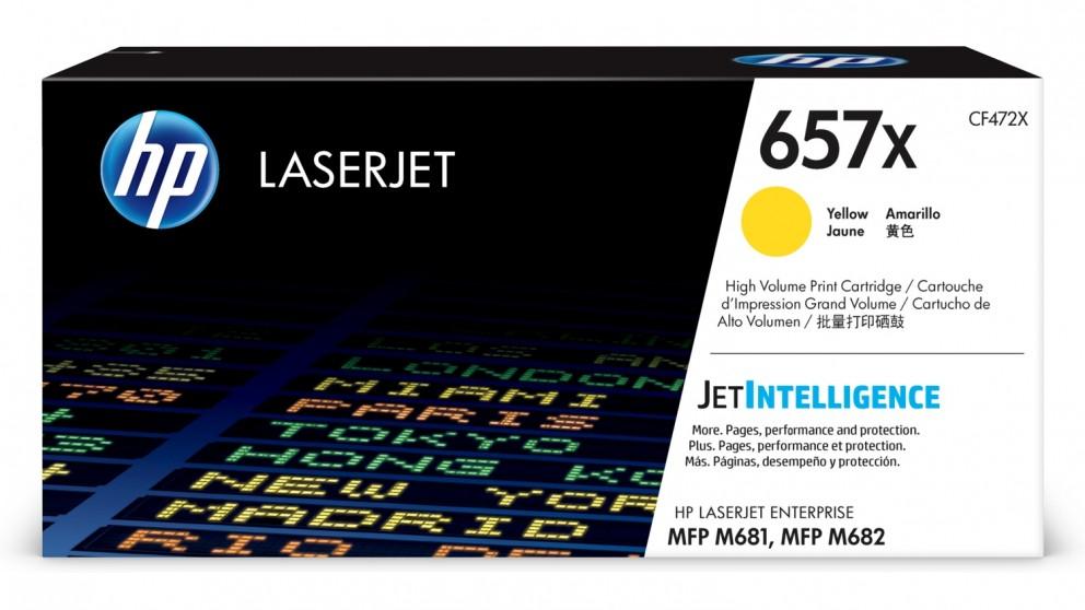 HP 657X High Yield LaserJet Toner Cartridge - Yellow