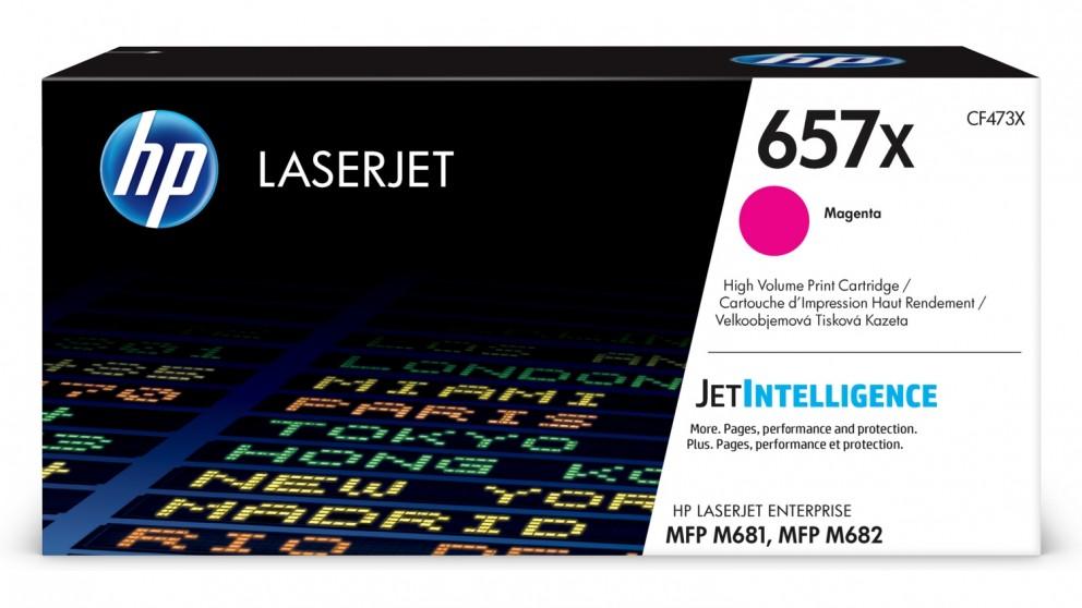 HP 657X High Yield LaserJet Toner Cartridge - Magenta