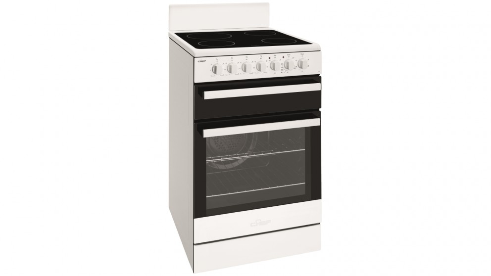 Chef 540mm White Freestanding Cooker with Ceramic Cooktop
