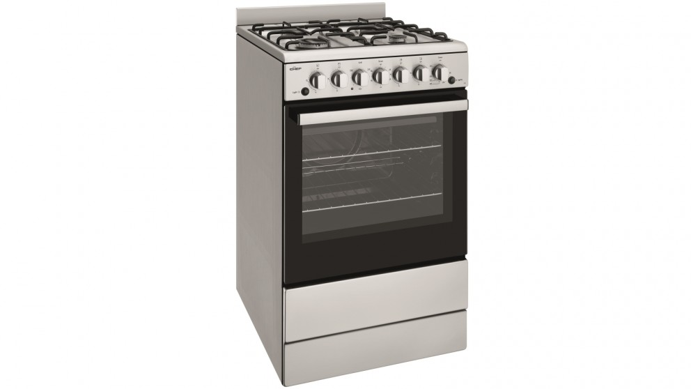 Chef 540mm Stainless Steel LPG Freestanding Cooker with Conventional Oven