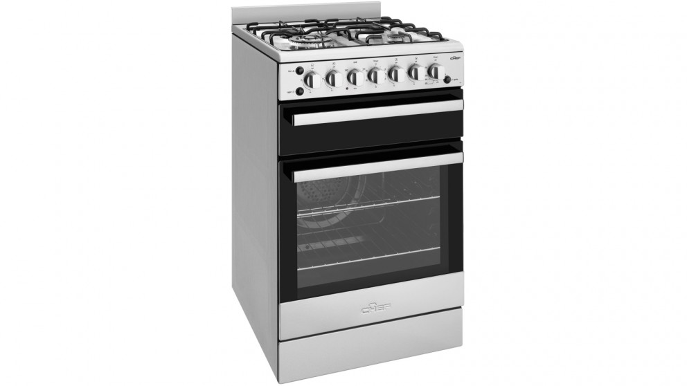 Chef 540mm Freestanding Natural Gas Cooker With Fan Oven