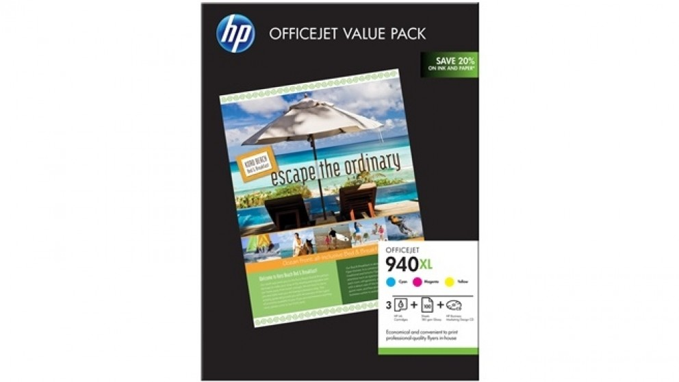 HP 940 XL Office Jet Value Pack Ink Catridges