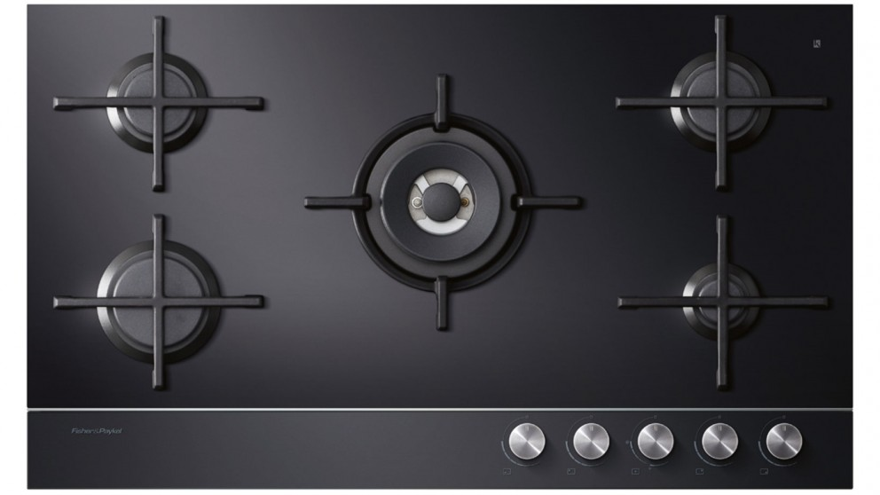 Fisher & Paykel 900mm 5 Burner LPG Gas-on-Glass Cooktop