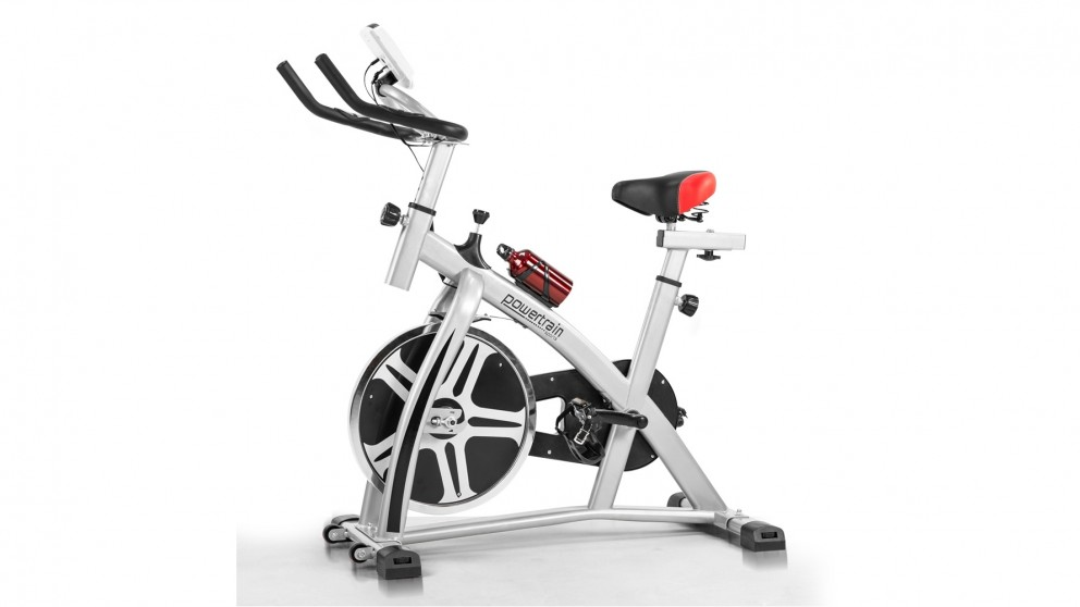 PowerTrain Exercise Spin Bike - Silver