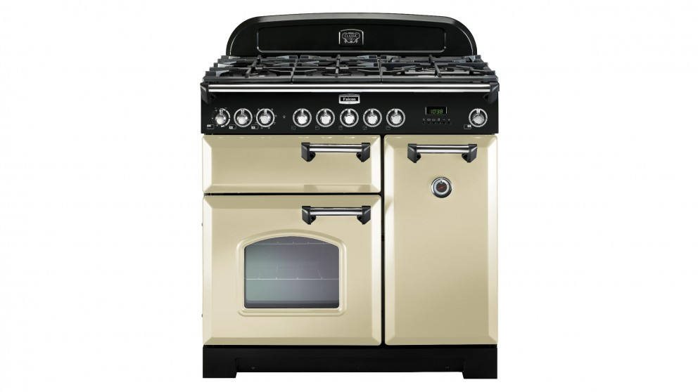 Falcon Classic Deluxe 900mm Dual Fuel Freestanding Cooker - Cream Chrome