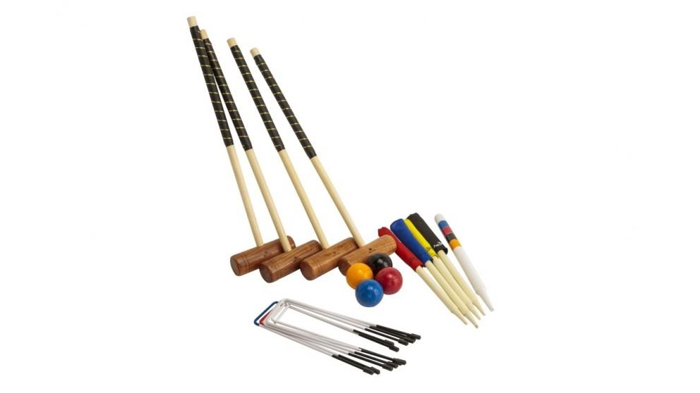 Jenjo Championship Hardwood Croquet 4 Player Set