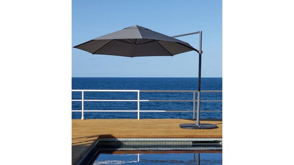 Pambula 3.3m Octagonal Cantilever Outdoor Umbrella - Charcoal