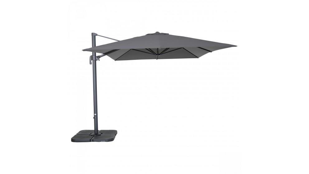 Shadow 3 x 4m Rectangular Cantilever Outdoor Umbrella - Charcoal