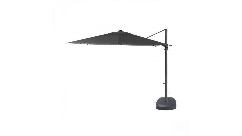 Pampa 3.5m Octagonal Cantilever Outdoor Umbrella - Charcoal