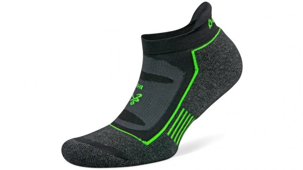Balega Blister Resist No Show Charcoal/Black Socks - Large