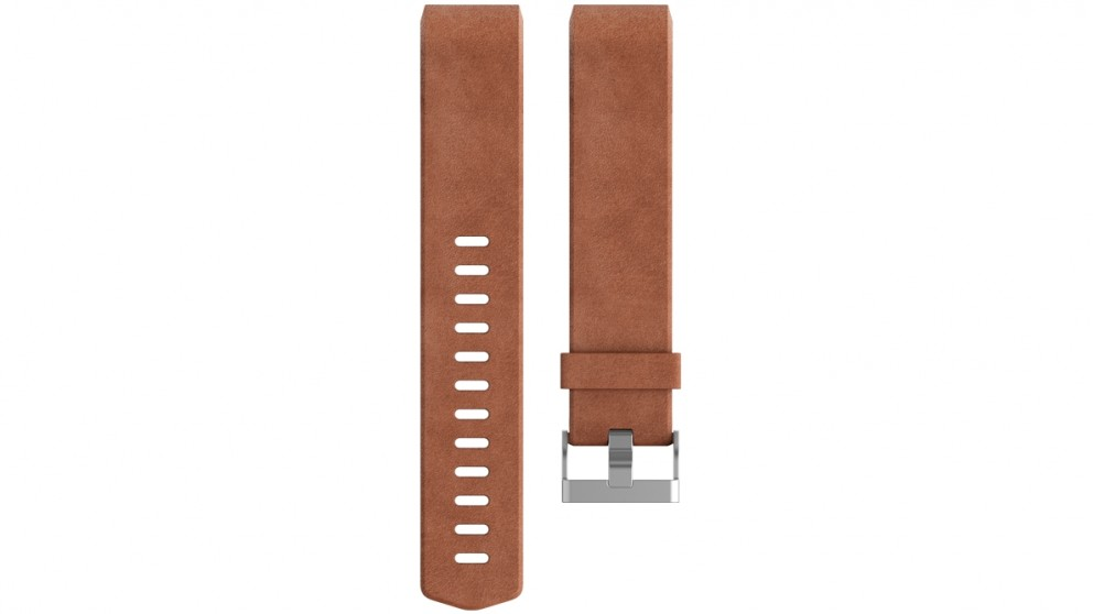 Fitbit Charge 2 Small Leather Wristband - Brown