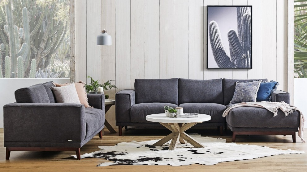 Buy Focus 3-Seater Sofa with Chaise | Harvey Norman AU
