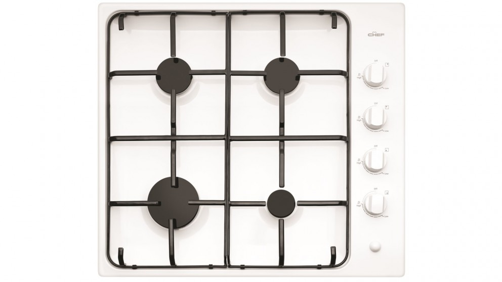 Chef 600mm 4 Burner Gas Cooktop with Battery Ignition