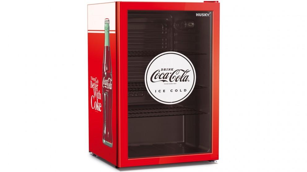 Husky 118L Coca-Cola Glass Door Retro Bar Fridge