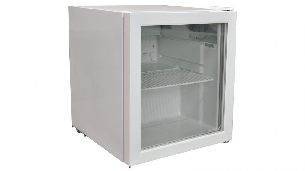Husky 46L Door Bar Fridge - White Glass