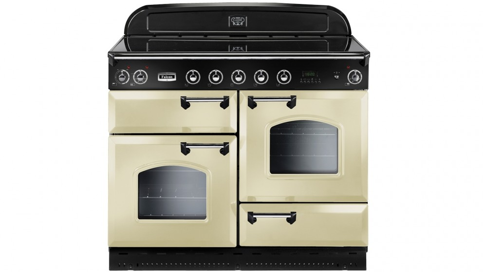 Falcon Classic 1100mm Chrome Fitting Freestanding Induction Cooker - Cream