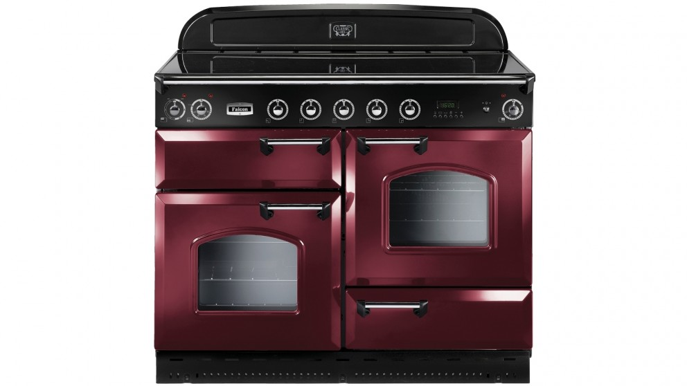 Falcon Classic 1100mm Chrome Fitting Freestanding Induction Cooker - Cranberry