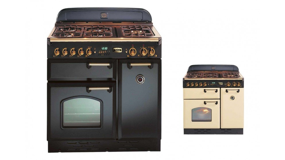 Falcon Classic 900mm Natural Gas Freestanding Cooker - Brass Fittings
