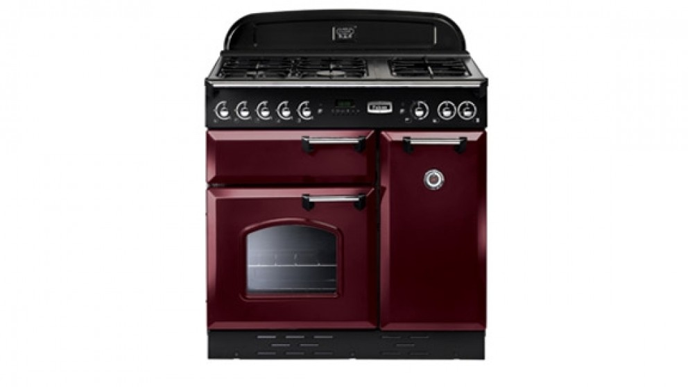 Falcon Classic 900mm Freestanding Natural Gas Cooker - Cranberry Chrome