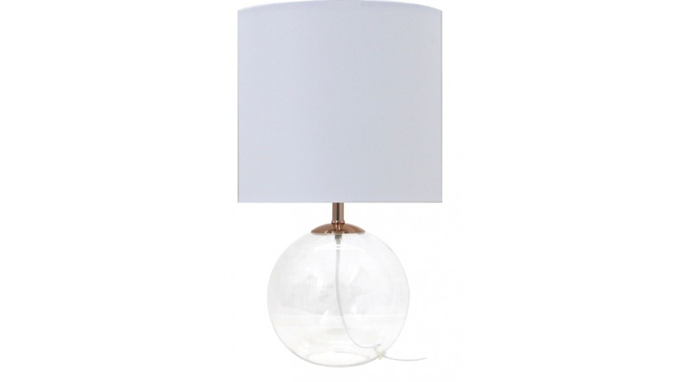 Clear ball bedside lamp with norman lighting