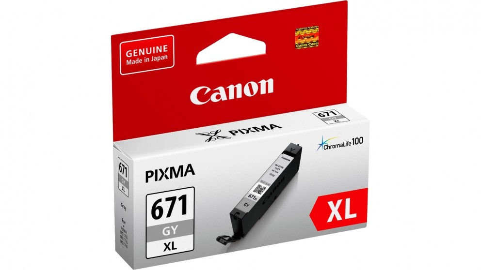 Canon CLI671XLGY Extra Large Ink Cartridge - Grey