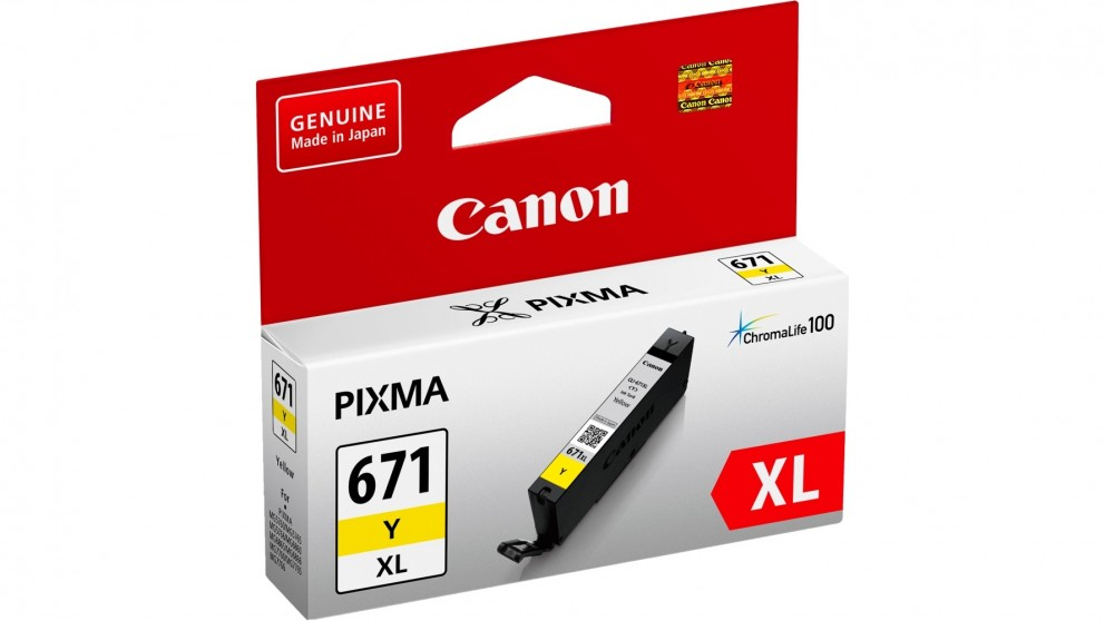 Canon CLI671XLY Extra Large Ink Cartridge - Yellow