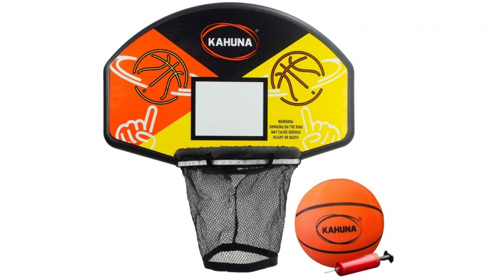 Kahuna Trampoline LED Basketball Hoop Set with Light-Up Ball