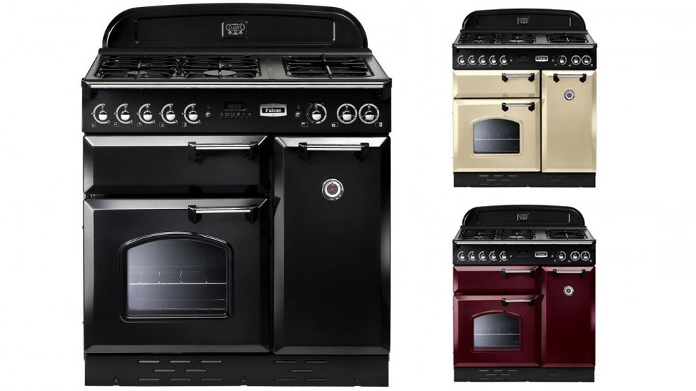 Falcon Classic 900mm Dual Fuel Freestanding Cooker - Chrome Fittings