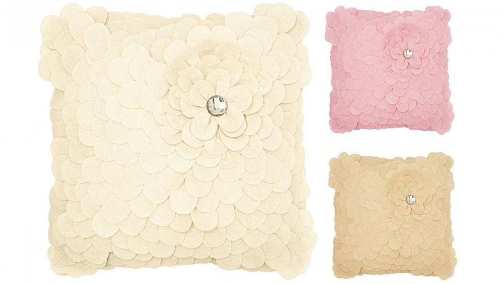 Floral Felt Jewel Cushion