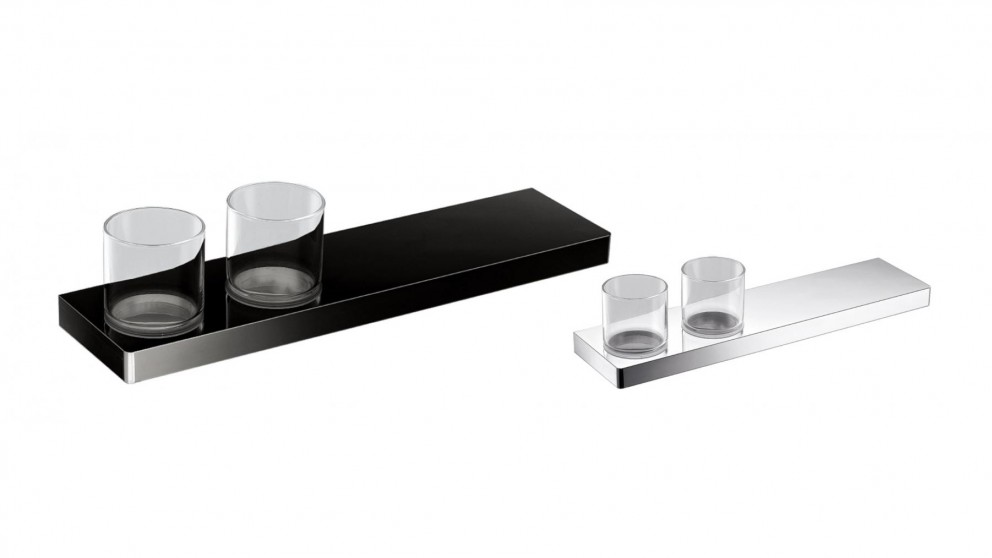 Arcisan Zara 40cm Shelf with Double Glass Holder