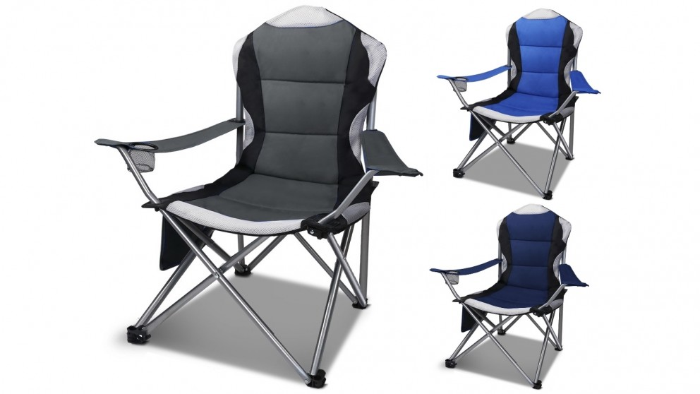 Weisshorn 2-Piece Deluxe Folding Camping Chairs