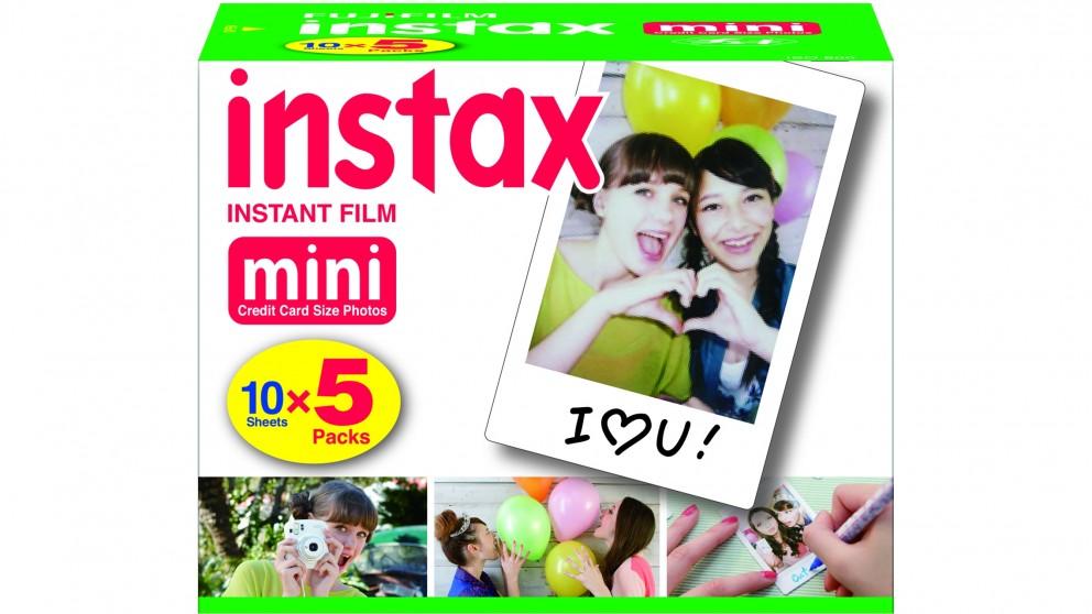 Instax Mini 10 Sheet X5 Film - Plain