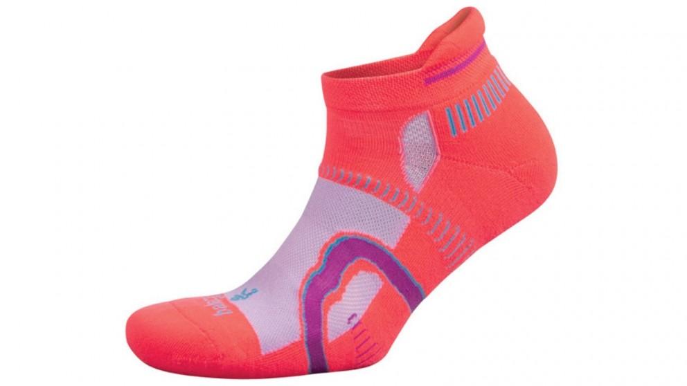 Balega Hidden Contour No Show Coral/Pink Socks - Medium