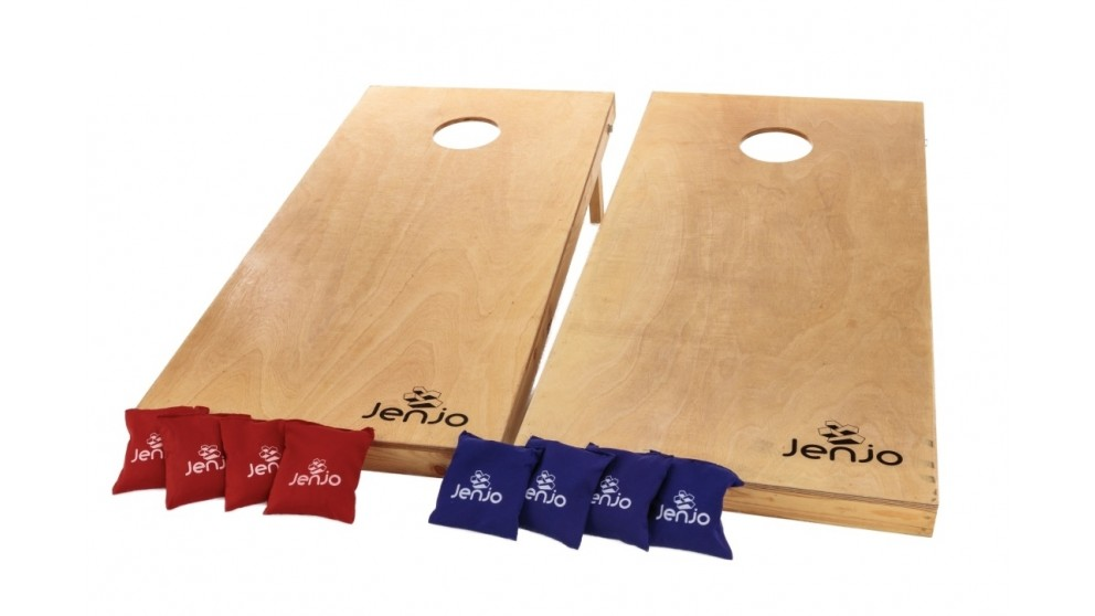 Jenjo Outdoor Cornhole Boards and Corn Bags Toss Game Set
