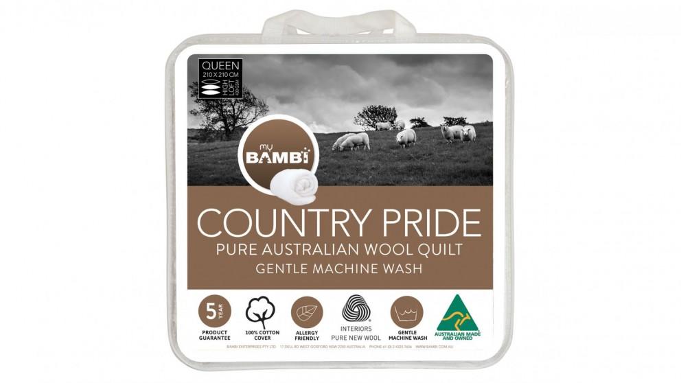 Country Pride All Seasons Loft Wool Single Quilt