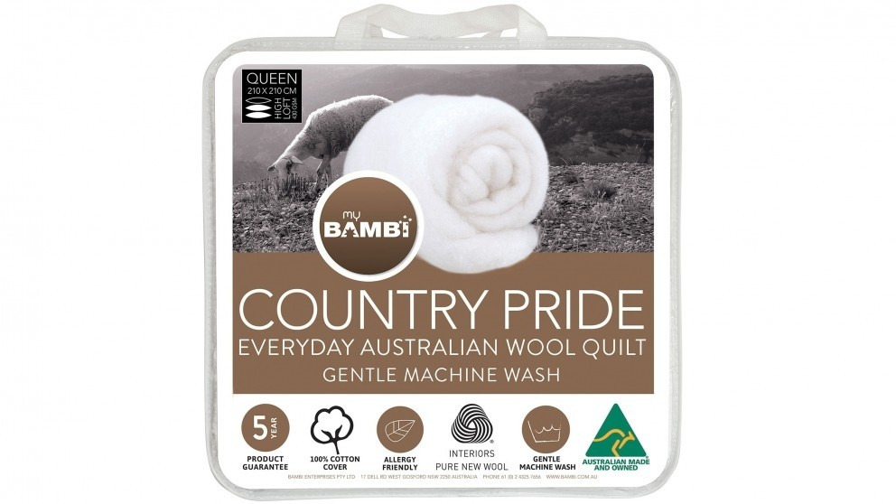 Country Pride Light Loft Wool Single Quilt