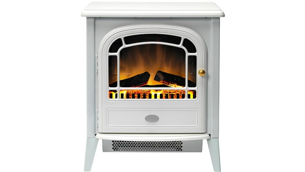 Dimplex Courchevel 2kW Electric Fire Heater - White