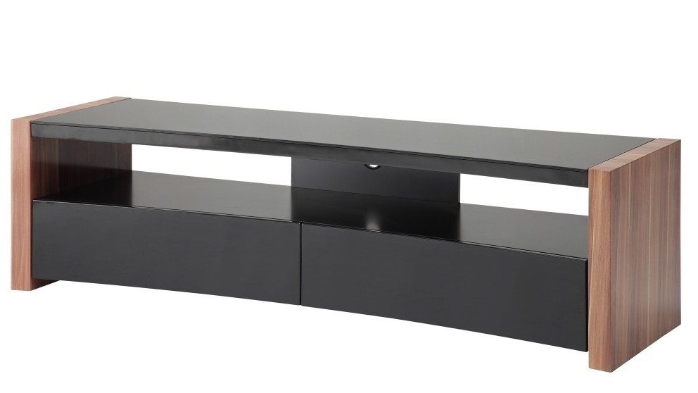 KD Cove 1800 Curved Front TV Cabinet - Walnut
