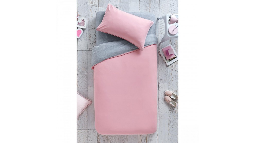 Cozi Pink Quilt Cover and Fitted Sheet Set - Single