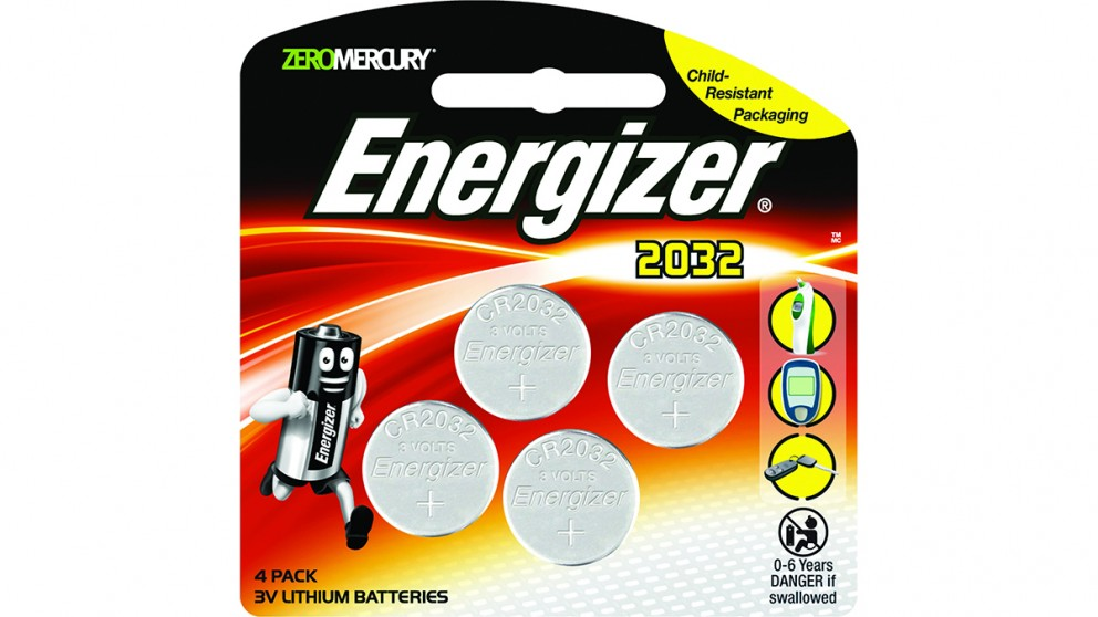Energizer Lithium Coin 2032 Batteries - 4 Pack