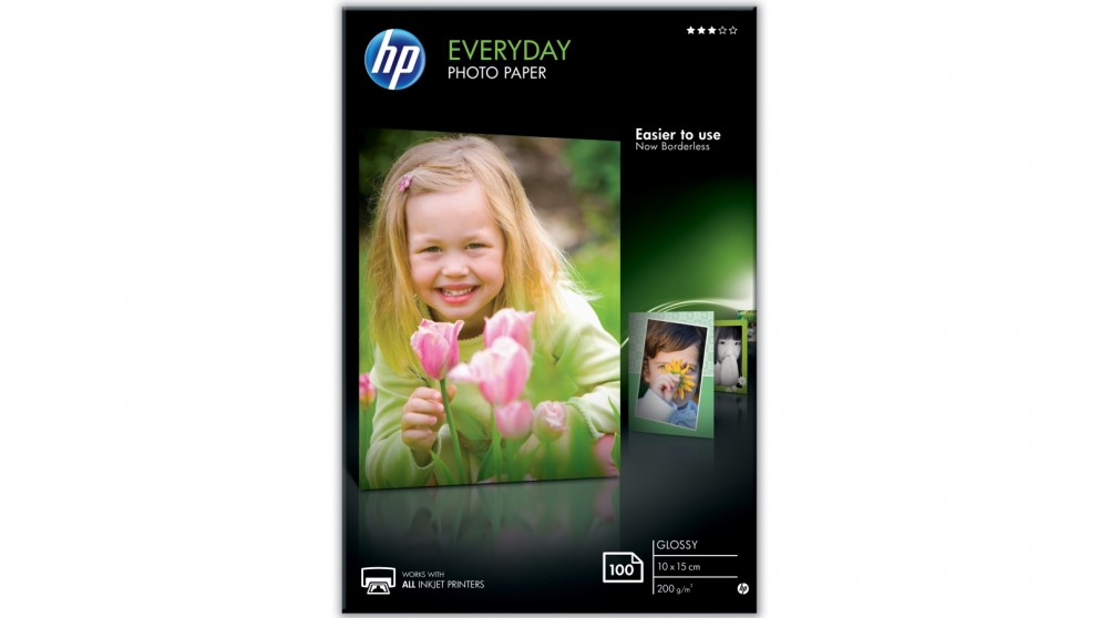 HP 10X15cm 100 Sheets Glossy Photo Paper