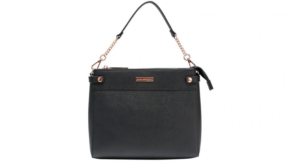 Code Republic Sierra Saffiano Leather Cross Body Tablet Bag - Black