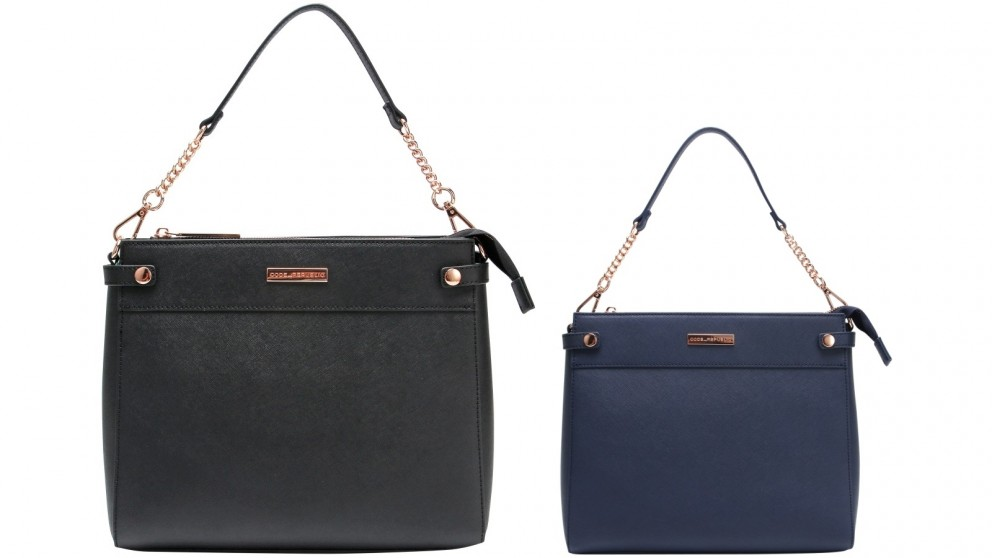 Code Republic Sierra Saffiano Leather Cross Body Tablet Bag
